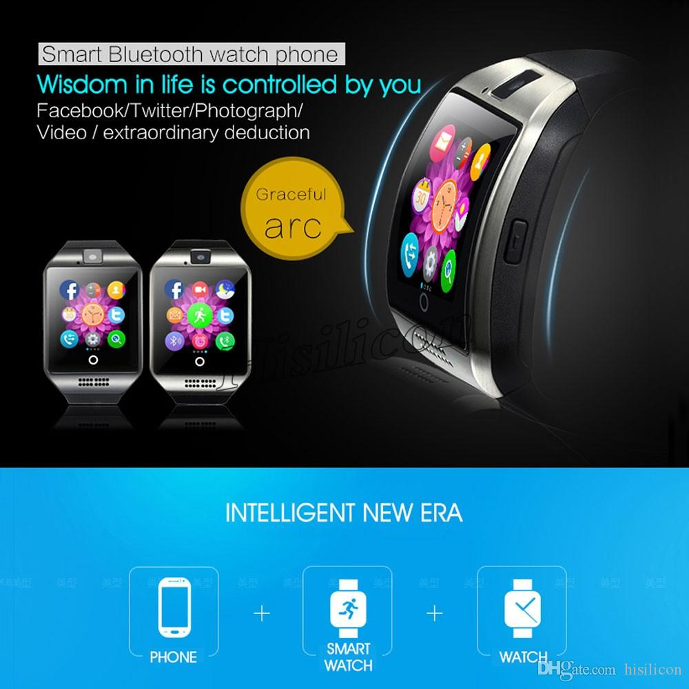 Q18 smart watches for android phones Bluetooth Smartwatch with Camera Support Heart Rate Tf sim Card Slot Bluetooth NFC Connection