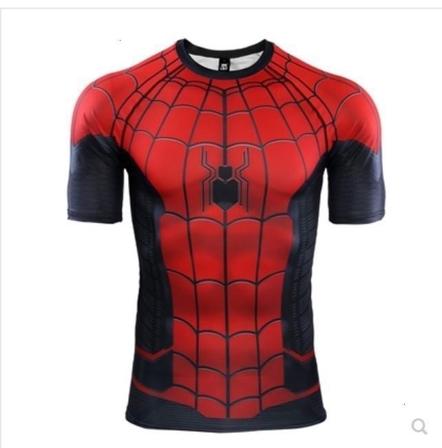 Segno diffuso Weiyuan Spider serie Xia stampa 3d manica corta camicia colletto tondo tessuto a rete cosplay comic periferia magliette