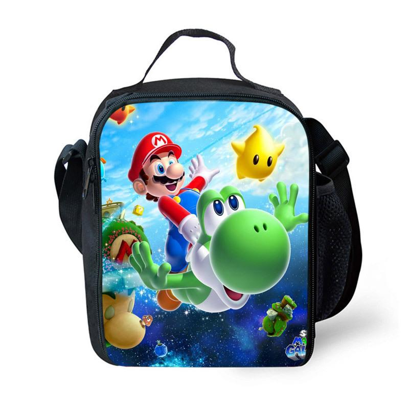 Super Mary Series Personalized Kid Lunch Bag Insulated Schule Jungen Mädchen Lunch Box Snack