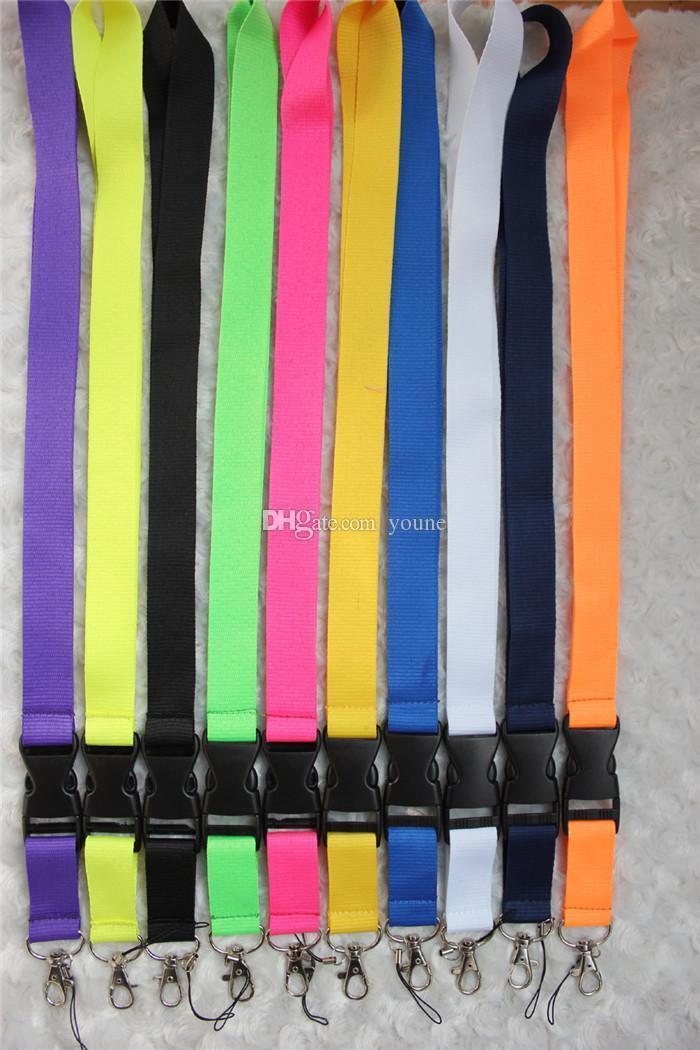 Бесплатная доставка 30 шт. Смешанный цвет сплошной пустой шеи талреп телефон брелок для держателей коллекции ID