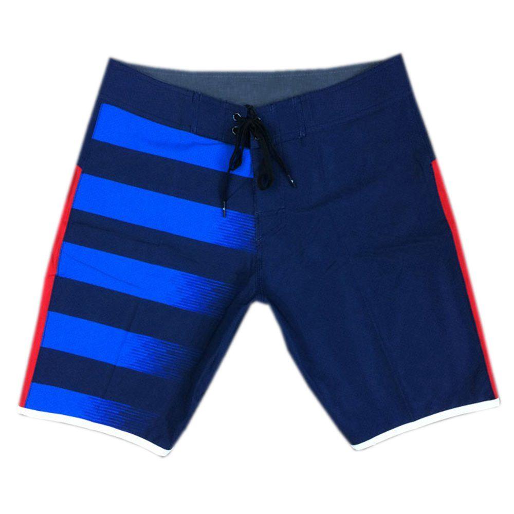 NEW 4Way Stretch Blue Leisure Shorts High Quality Mens Swim Trunks Bermudas Shorts Beachshorts Board Shorts Quick Dry Surf Pants Swimtrunk