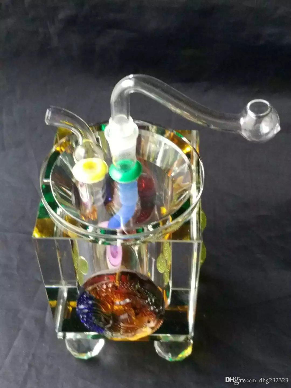 tuyaux en cristal coloré verre accessoires bong, verre coloré mini-Pipes fumeur multi-couleurs Pipes à main Spoon Meilleur verre