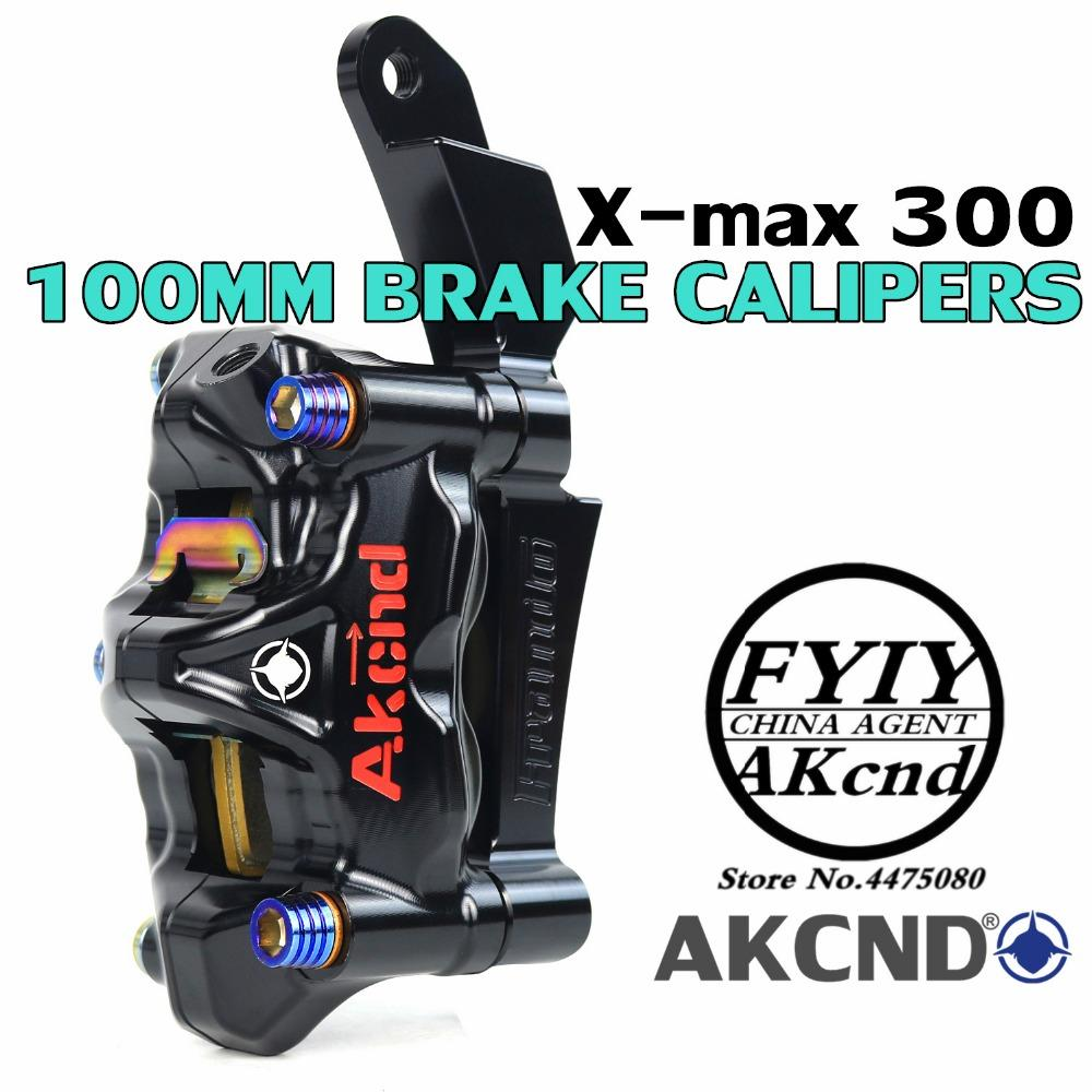 AKCND Motorcycle Brake Caloper Bracket Adspter For X-MAX 300 xmax 267mm and 100mm Brake Calipers