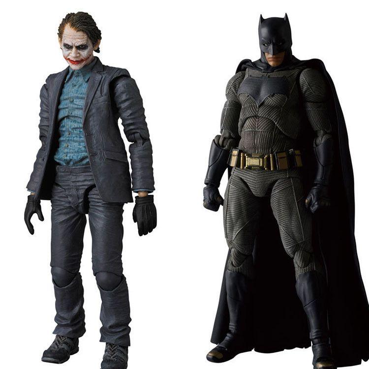 Anime toys MAFEX NO.015 & 017 Batman The Dark Night The Joker PVC Action Figure Collectible Model Toy 15cm