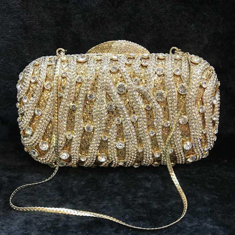 White Rhinestone Crossbody Bag Luxury Crystal Clutch Women Party Purse Fashion Women Shoulder Crossbody Handbags