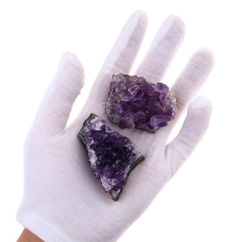 Amatista natural en bruto de cristal de cuarzo en Racimo piedras curativas Espécimen la decoración del hogar Artesanía Piedras Naturales y Minerales
