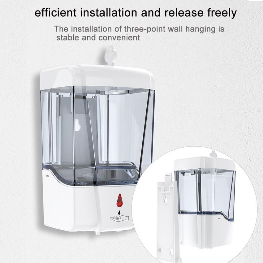 700ml Dispenser Touchless Smart Sensor automatico del sapone USB Bagno sapone liquido disinfettante Handsfree Touchless Dispenser KKA7901-1