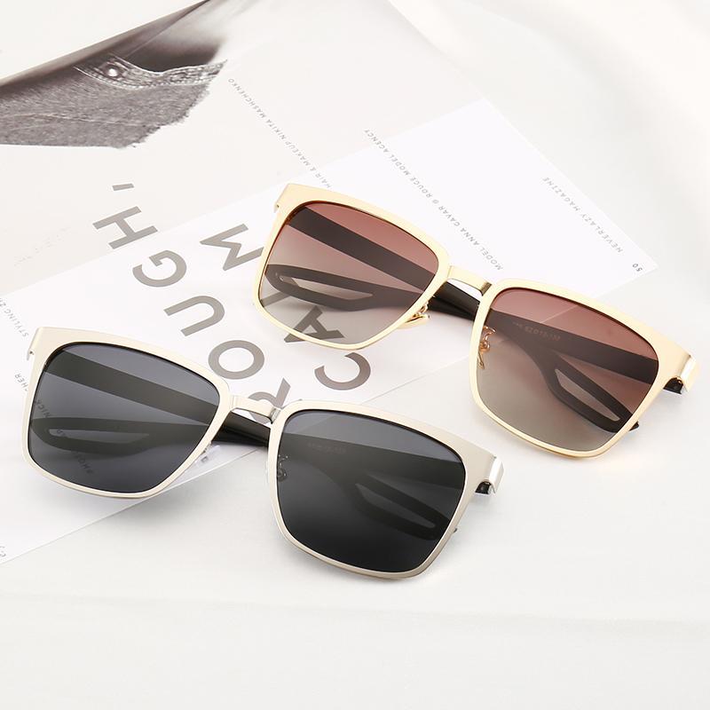 디자이너 라운드 선글라스 레이 브랜드 디자인 UV400 안경 금속 골드 금지 프레임 태양 안경 남성 여성 미러 선글라스 폴라로이드 유리 렌즈