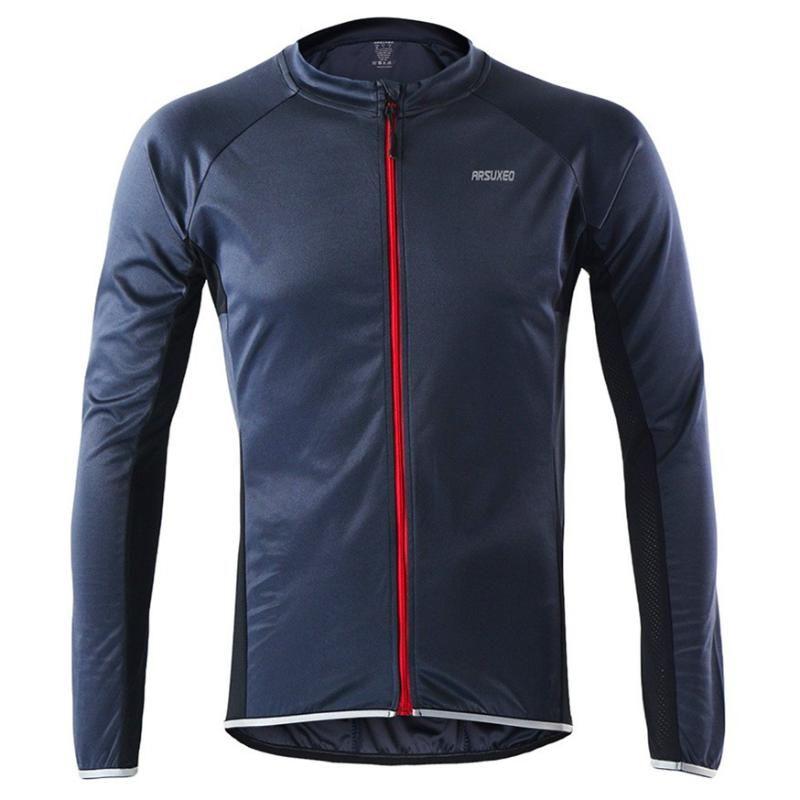 Erkekler Yaz Uzun Kollu Bisiklet Jersey MTB Bisiklet Bisiklet Gömlek Giyim - Floresan Yeşil Turuncu Mavi Gri