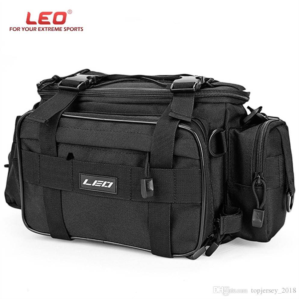 LEO 1000D Oxford Multifunctional Lure Waist Pack Pouch Pole Package Fishing Tackle Bag IPX4 Waterproof Fishing Bag #159224