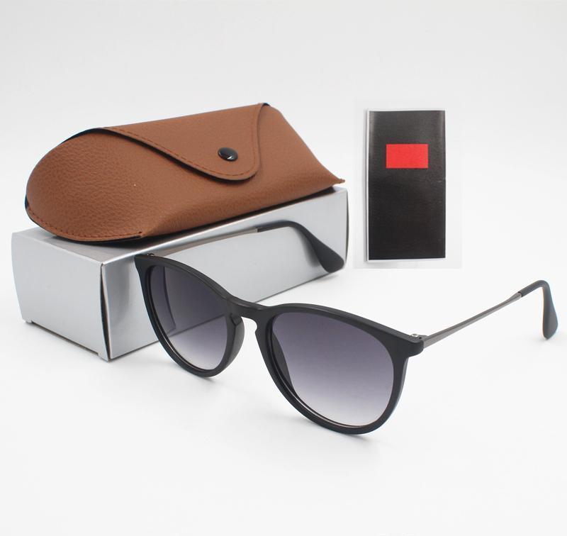 1pcs sol de la manera Gafas Gafas de sol de diseño para mujer para hombre Brown Negro protectores de metal marco oscuro lentes de 50 mm para