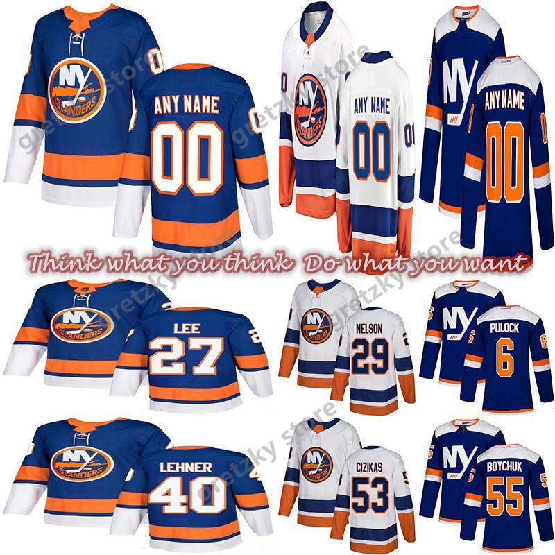Нью-Йорк островитянин кофта 13 Barzal 53 ГИДЗИКАС 27 ли 55 Бойчук 29 Нельсона 40 Ленер настраивать любое количество хоккей Джерси любое имя
