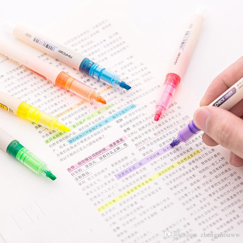 الطلاب الأقلام القرطاسية الفن الطلاء أقلام الحبر السائل الفلورسنت القلم مكتب اللوازم المدرسية للأطفال التعلم ماركر