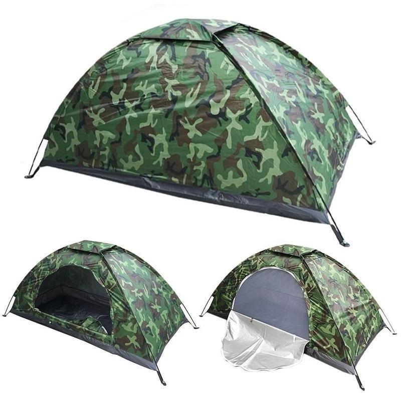 1 Pessoa Tenda Ultraleve Camada Única PU1000mm Tent Resistência à Água Camping com saco de transporte para caminhadas Viagens