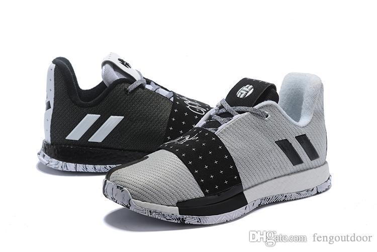 Harden Vol. 3 MVP Basketbol Ayakkabı Erkekler Kırmızı Gri Siyah James Harden 3 s III Açık Eğitmenler Spor Koşu Ayakkabıları Boyutu 7-11.5