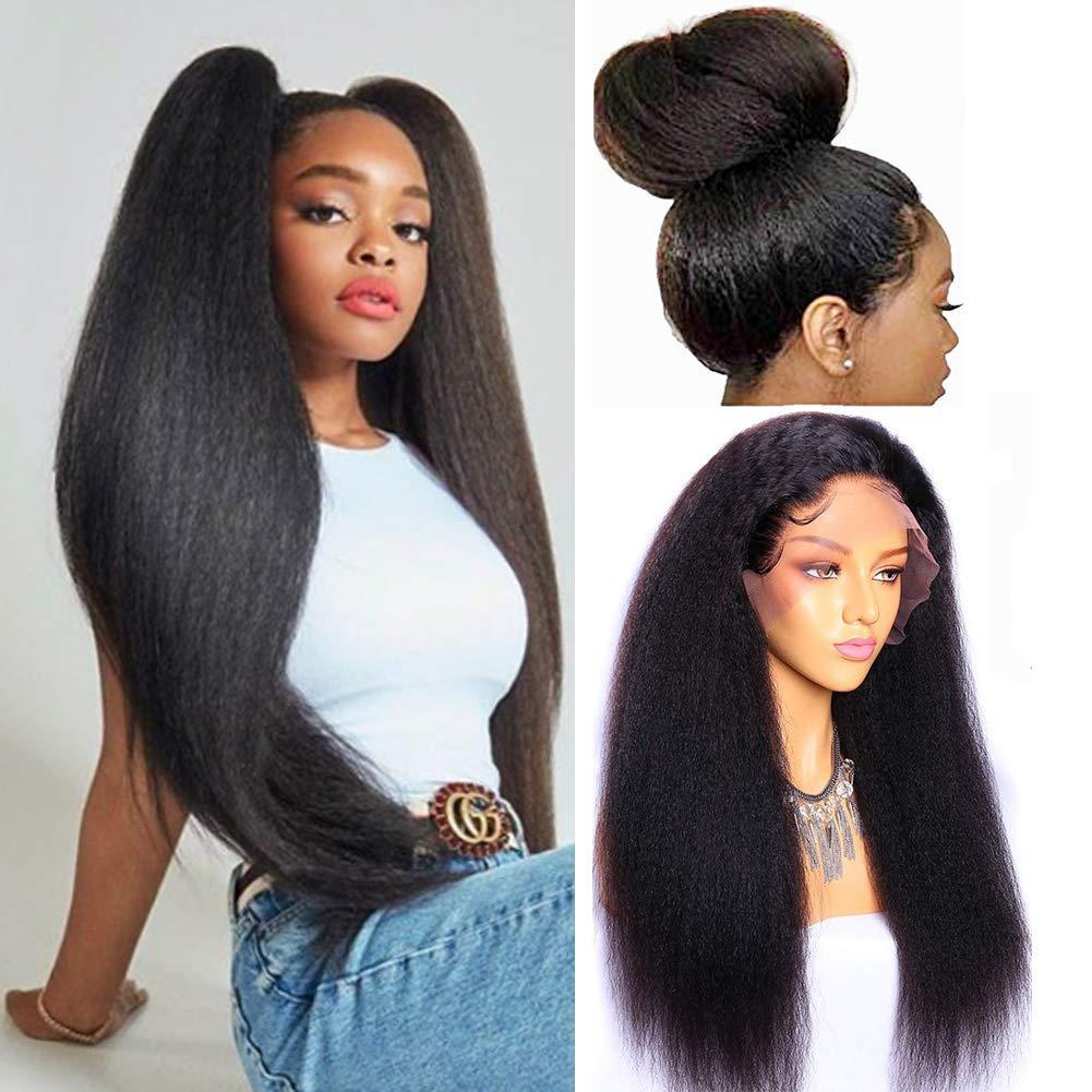 Frente del cordón peluca rizada recta brasileño de la Virgen del pelo humano del 360 de encaje frontal pelucas para mujeres de color natural