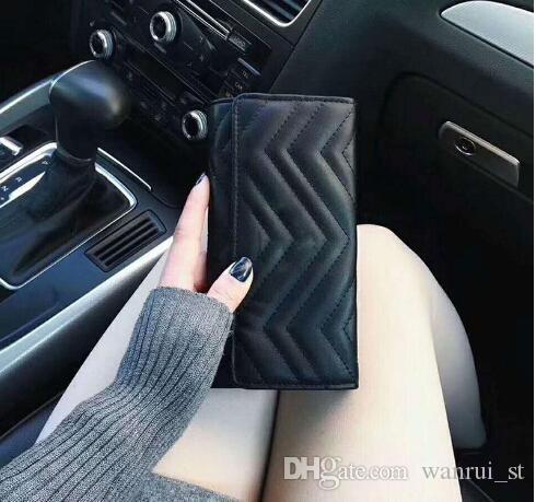 El nuevo diseñador de las mujeres carteras titular de la tarjeta famosa cuero genuino cartera larga días monedero titular de la tarjeta bancaria bolsa de embrague