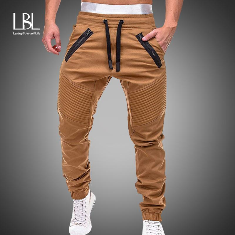 Pantaloni Uomo Pantaloni 2019 Workout autunno nuovi Mens pantaloni della tuta per il tempo libero in cotone da uomo Pantaloni Casual Pantaloni sportivi da Uomo Slim Fit pantaloni V191026