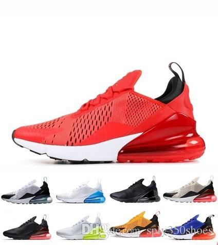 Nike air max 270 designer de luxe chaussures hommes Coussin Sports Designer Pour Femmes Hommes Noir Blanc Rose Jaune Marche En Plein Air Baskets Taille 36-45 XOS 3