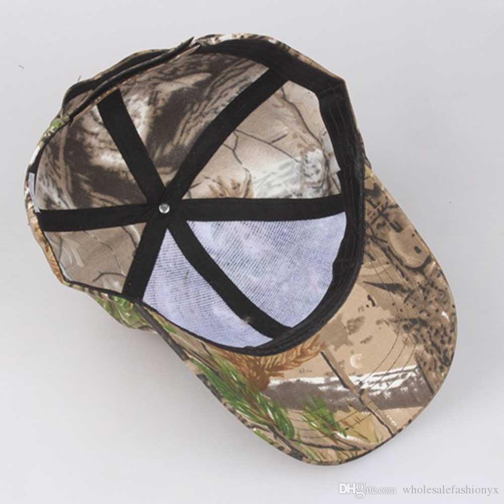 Outdoor Sunscreen Quick-Drying Cap Jungle Leaves Camouflage Casual Baseball Hat