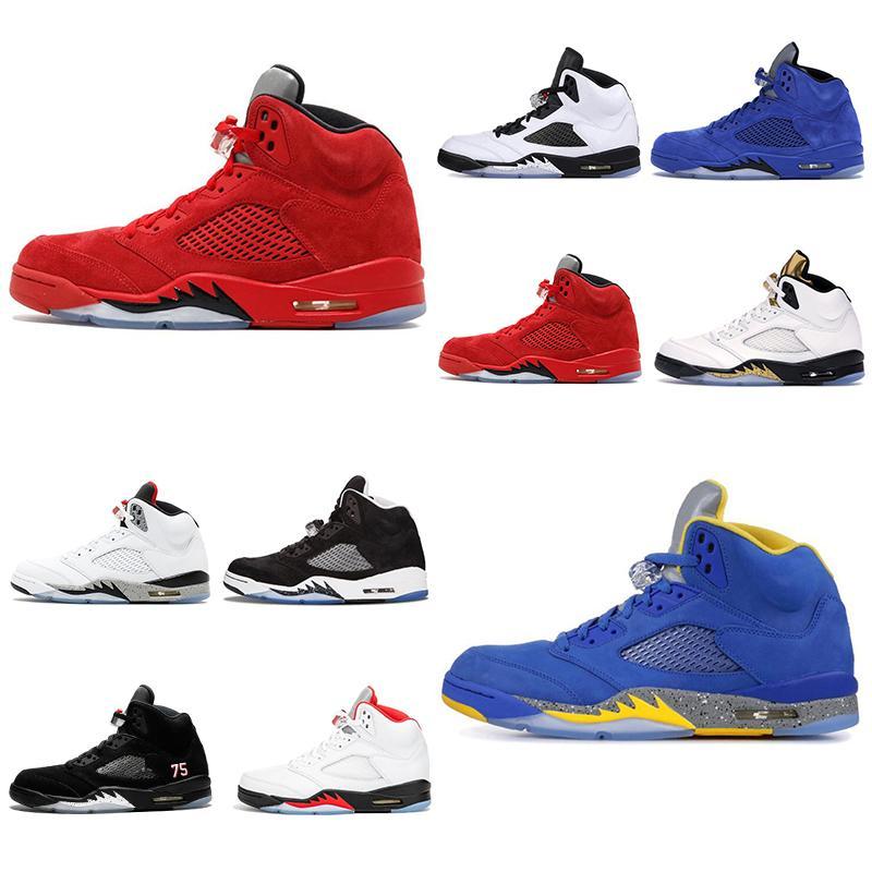 2020 mais novo jumpman 5 5s homens psg tênis de basquete vermelho fogo Oregon patos brancos Ice homens quentes treinadores desportivos sneakers tamanho 7-13