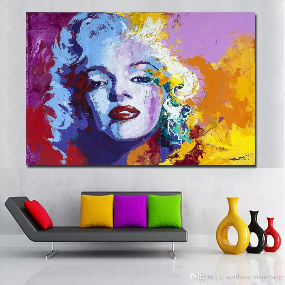 1 Panel Watercolor Marilyn Monroe Oil Painting Modern Portrait Painting Printed On Canvas Wall Art Prints Poster No Frame