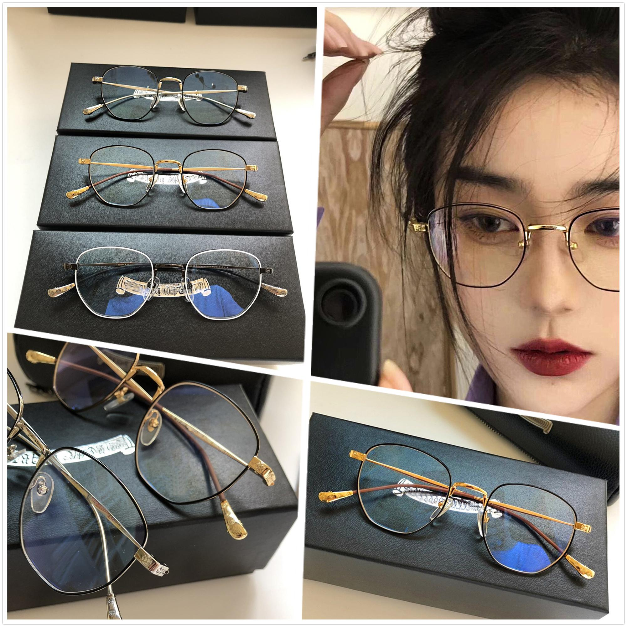 vintage New designer de moda óculos de sol CHR frame redondo lente cor estilo popular no verão vendendo uv400 proteção quente eyewear [OSSO propenso a I]