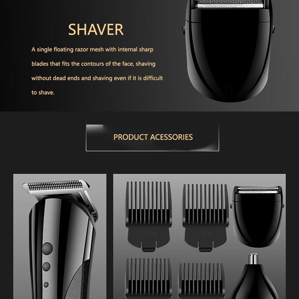 Kemei 1407 Todo in1 cortadora de cabello para hombres de cortar el pelo a prueba de agua de 0,5 grados de herramientas máquina de afeitar del condensador de ajuste del pelo toptrimmer roLhF