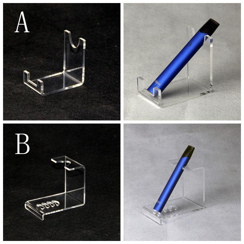 Acrylic display clear stand shelf holder base vape rack show for ecig flat vaporizer vape pen battery pods cartridge tank kit new arrival