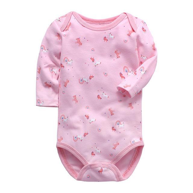 Мода для младенцев мальчиков Одежда для новорожденных Боди с длинным рукавом 100% хлопок Младенцы малышей 3 6 9 12 18 24 месяцев Одежда для девочек