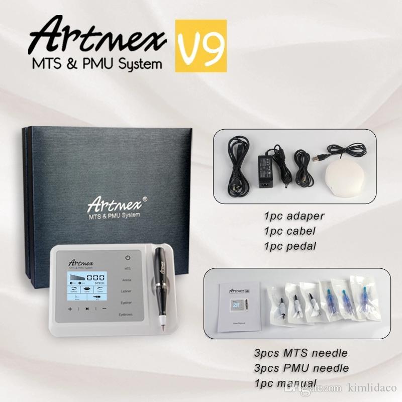 Artmex V9 Permanente Microblading MTS / PMU Digital tatuagem permanente da composição Máquina micro BLADING pen sobrancelha Eyeliner Lábios CE