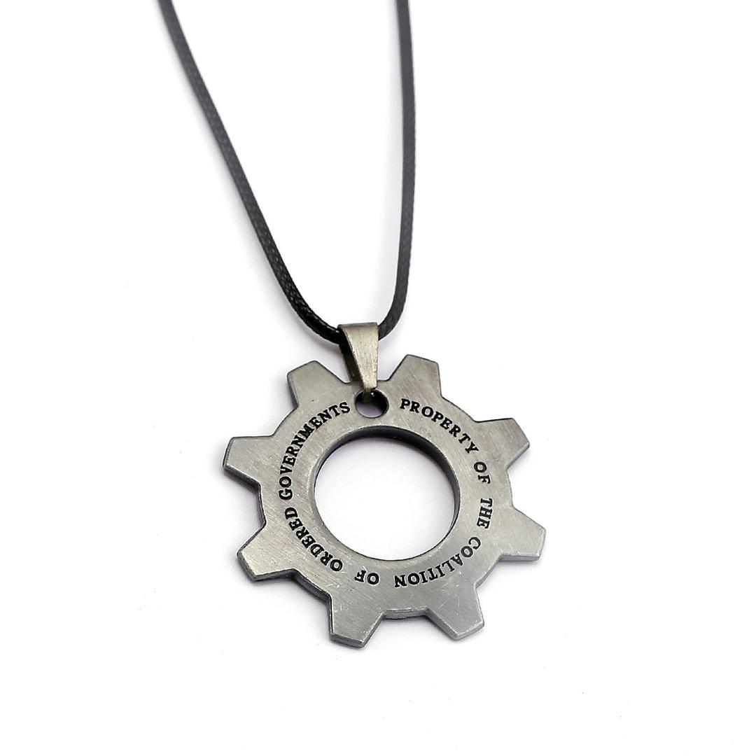 Hot Fashion Jewelry Vintage Colors Hollow Gears Pendant Necklace Retro Hollow Carved Gears of war Jewelry For Boys