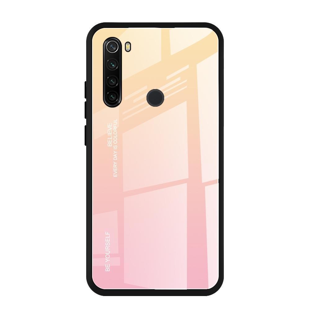 Para Xiaomi redmi Nota Caso Vidro Gradiente de cor T8