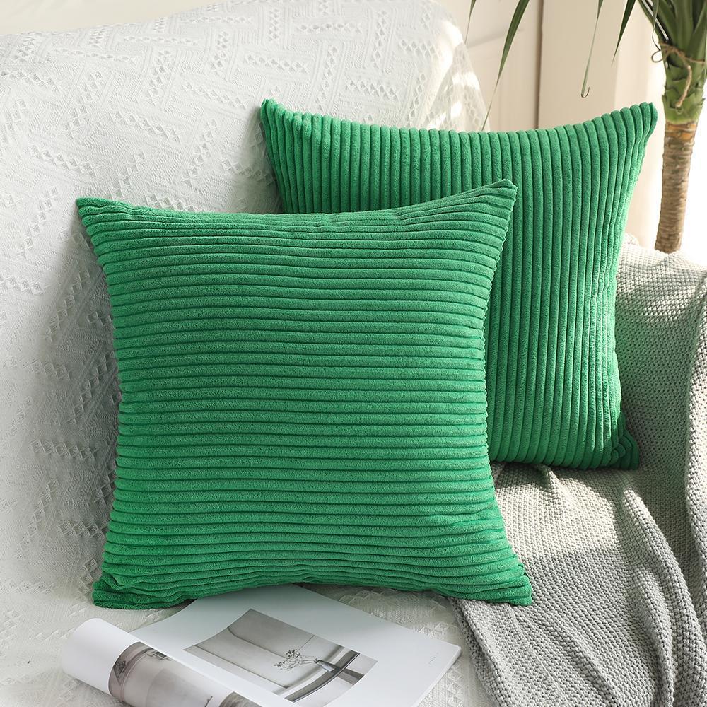 Macio Soild Praça decorativa Throw Pillow Covers Set Cases almofada confortável Corduroy fronha para Sofá Quarto Car