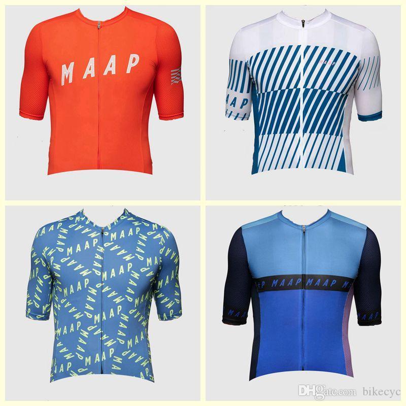2019 MAAP equipo de ciclismo de manga corta camiseta al aire libre de la bicicleta del nuevo del verano del estilo de Mtb Ciclismo Maillot U91904