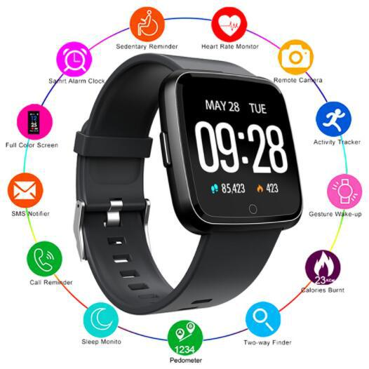 100PCS Y7 inteligente Pulseira Academia Mi banda 4 Oxygen Pressão Arterial Esporte Rastreador relógio inteligente Heart Rate Monitor pulseira para mulheres dos homens