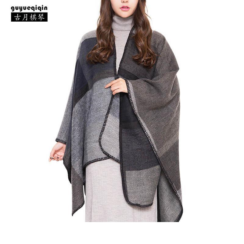 디자이너 2018 새로운 도착 접합 긴 파시미나 여성 가을 겨울의 따뜻한 4 색 여성 스카프 빈티지 백화점 케이프 숄