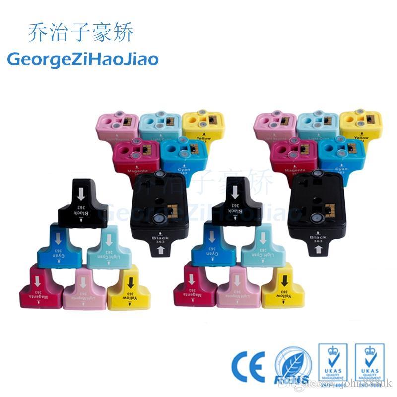 HP 363 Için Uyumlu HP363XL C6180 C7180 C8180 3310D7460 C5180 D7460 P3210 P7150 Yazıcı 24 X Mürekkep kartuşları