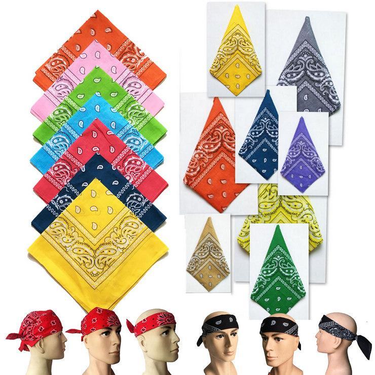 Pañuelos 2018 100% Algodón Moda Paisley Diseño de la venda de la bufanda Hiphop de alta calidad pañuelo multifuncional cabeza exterior bufanda LSF056