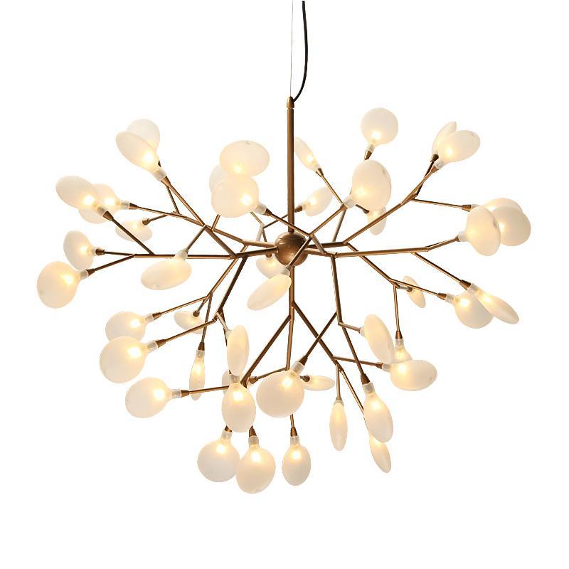 minimalista e moderno Nordic vagalume lustre criativo sala de estar lâmpada personalidade sala de jantar quarto lâmpada ramo lustre