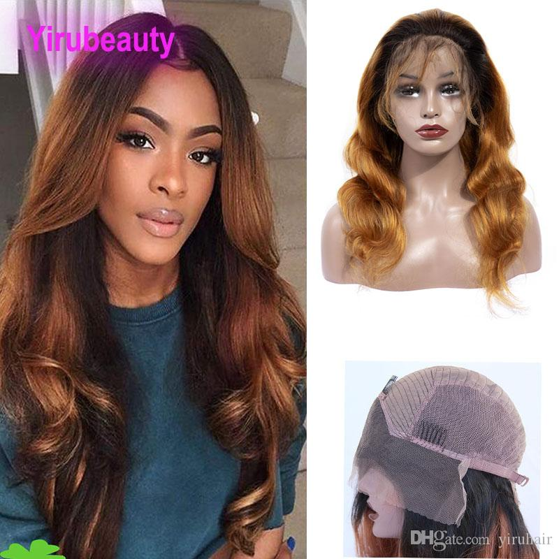 Peruvian Virgin Hair Lace Front Wig 1B/30 Lace Front Wig Body Wave Human Hair Products 12-32inch 1B 30 Ombre Hair