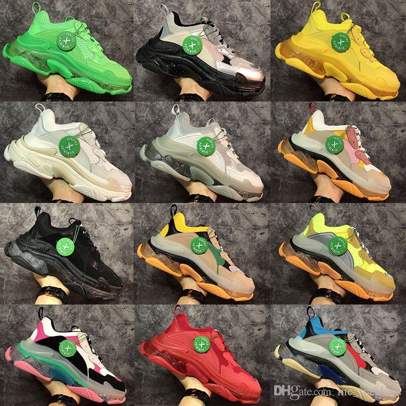 2020 Triple-s la mode Paris 17FW triple Baskets pour rouge vert noir hommes femmes blanches Chaussures Casual Dad tennis de baskets de plus en plus