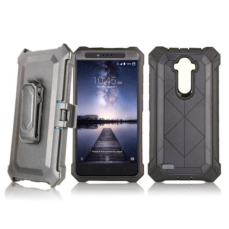 Future armure de cas hybride pour ZTE Blade Z Max MetroPCS pour LG Aristo de LV3 avec ceinture clip Holster cristal Robot affaire C