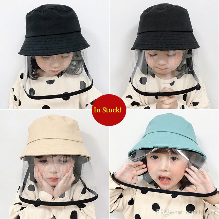 Children Mask Hat Spring Thin Anti-saliva Fisherman Caps Cotton Baby Hat Child Protective Caps Dust Hat For Kids