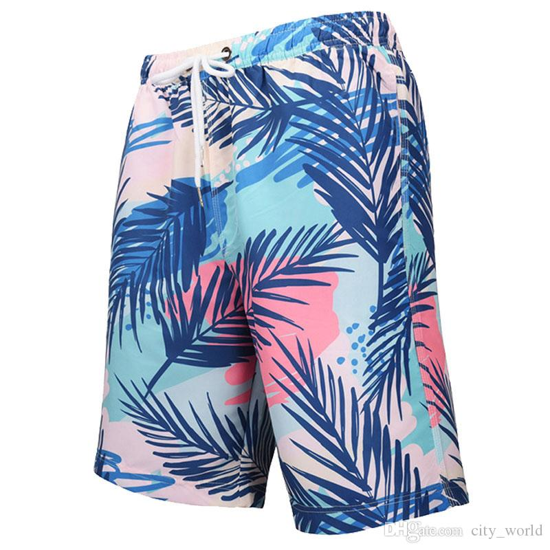 Men's Summer Beach Surfing Boardshorts Swimming Trunks Hawaiian Shorts Swimwuit High Quality Bathing Suit Beachwear with Drawstring Pockets