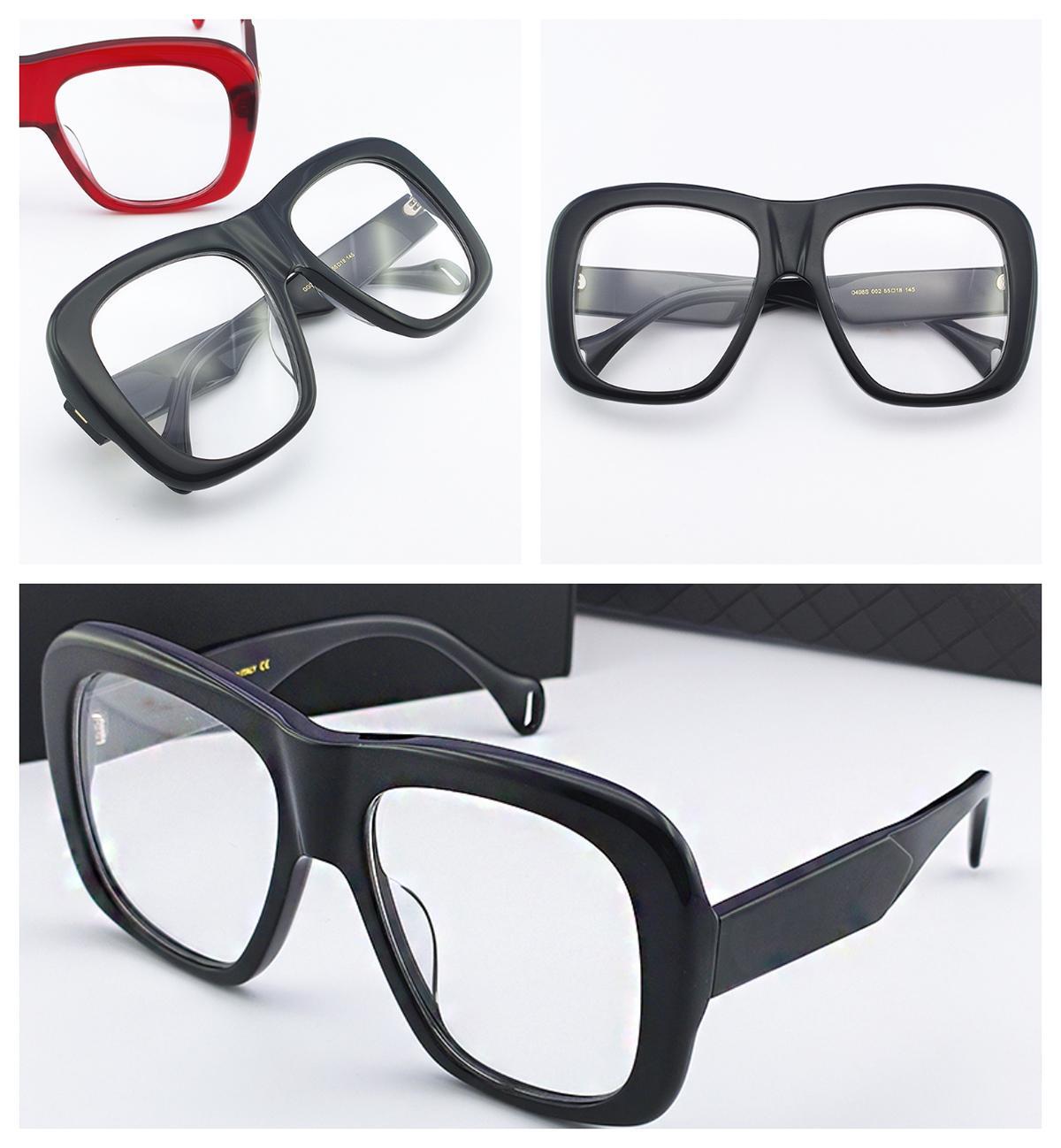 Le donne di lusso trasparente Eye Glasses esterna Chiaro oversize di vetro degli occhiali miopia presbiopia Vintage prescrizione ottica Spectacle Telaio