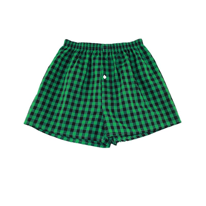 M-XXXL mens boxers loose Classic Plaid Men Box shorts Mix Colors Trunks Cotton Cuecas underwear Y200415