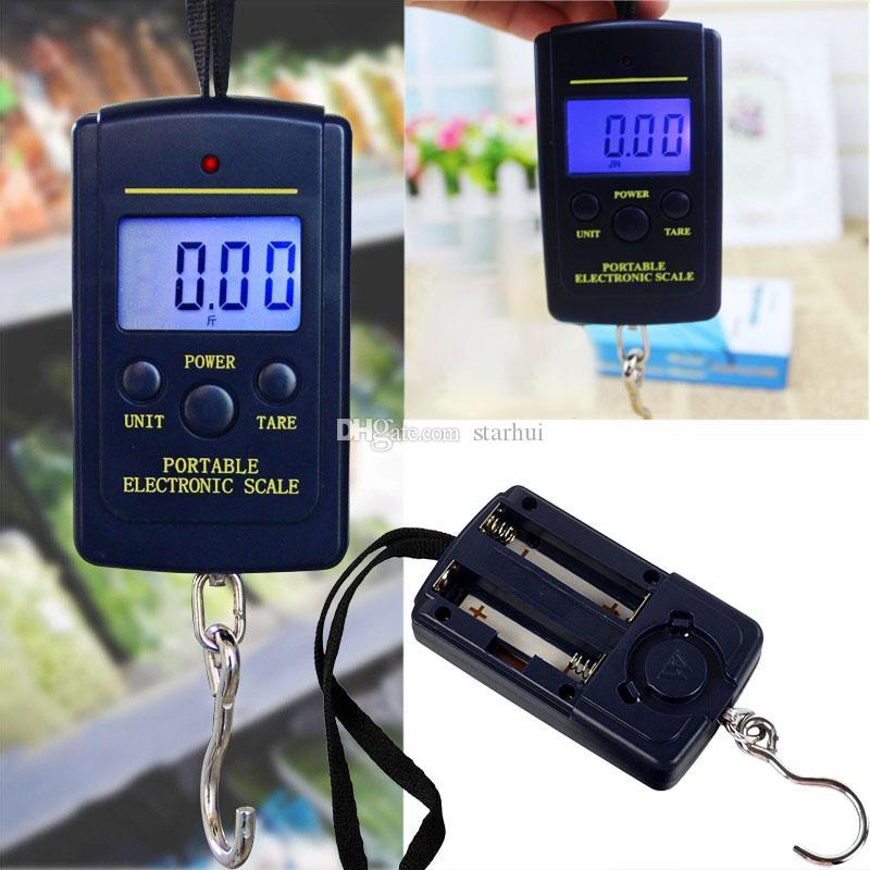 40kg bilance digitali display LCD appeso bagagli da pesca peso peso bilancia pesata bilancia stadrezza bilancia per uso domestico DHL libero WX9-1161