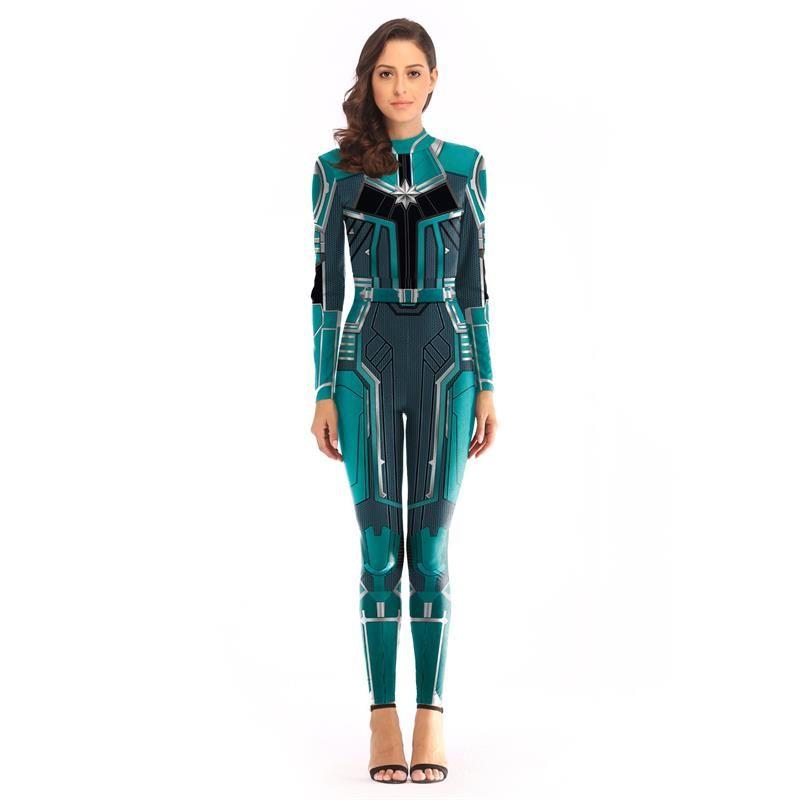 2019 venda quente super hero trajes marvel os vingadores 4 capitão surpresa cosplay traje jumpsuit cosplay roupas