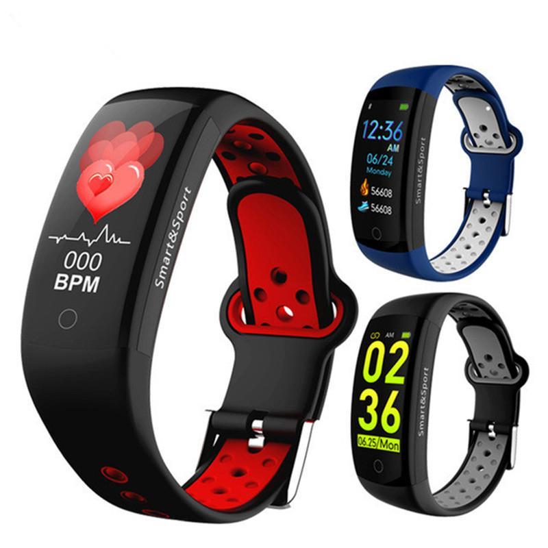 Q6S Heart Rate Monitor Fitness Bracelet Smart Wristband Blood Pressure/Oxygen Smart Bracelet Band IP68 Waterproof Watch